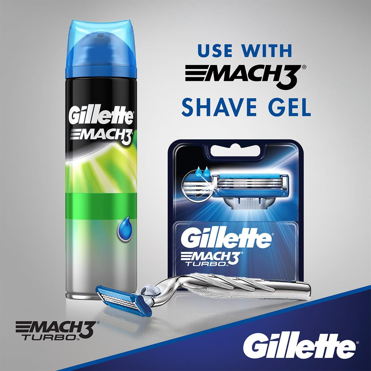 Use with Mach3 shave gel