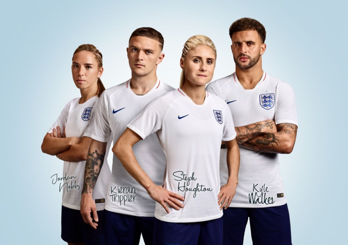 Kieran Trippier, Kyle Walker and the Lionesses Jordan Nobbs and Steph Houghton mentor Legends of Tomorrow
