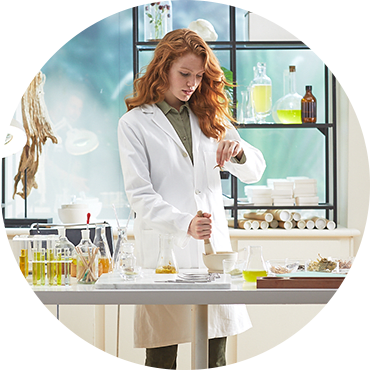 A woman working in a science laboratory