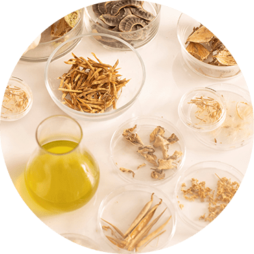 Natural ingredients from the Herbal Essences products on a table