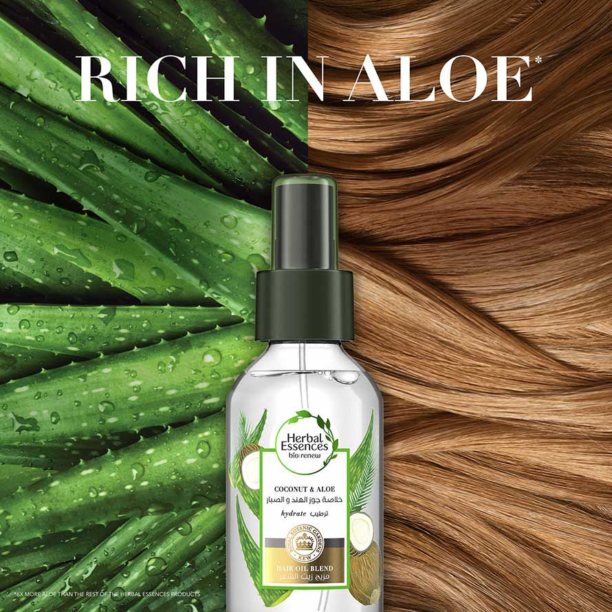 Coconut and Aloe Hair Oil Blend