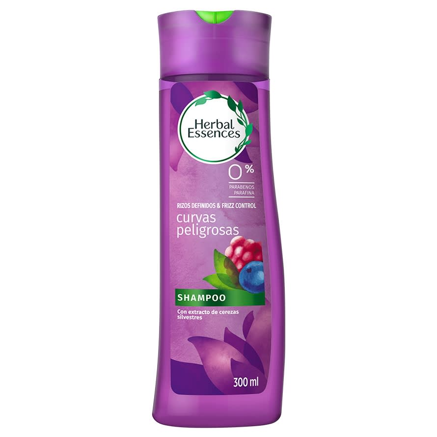 Shampoo Para Cabello Rizado Herbal Essences Curvas Peligrosas