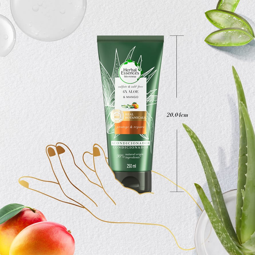 Conditioner Aloe & Mango Size Reference