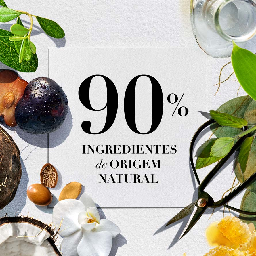 90% Ingredients de origem natural
