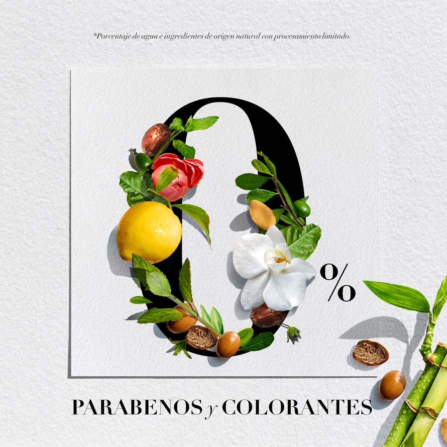 0% parabenos y colorantes