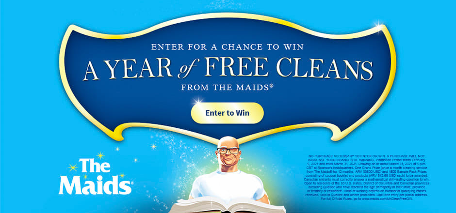 Mr. Clean Enter for a Chance to Win a Year of Free Cleans From the Maids