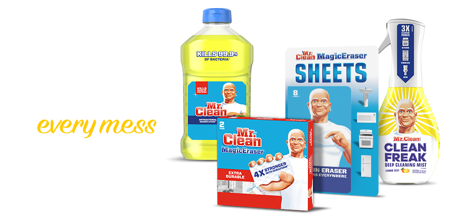Mr. Clean Has the Muscle to Knock Out Every Mess in the House