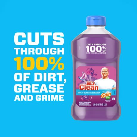 Mr Clean Liquid Cleaner Gain Moonlight Breeze Dirt Grease and Grime