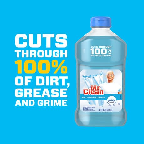 Mr Clean Liquid Cleaner Linen and Sky Dirt Grease and Grime
