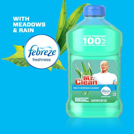 Mr Clean Multi Purpose Cleaner With Febreze Meadows and Rain dilutes