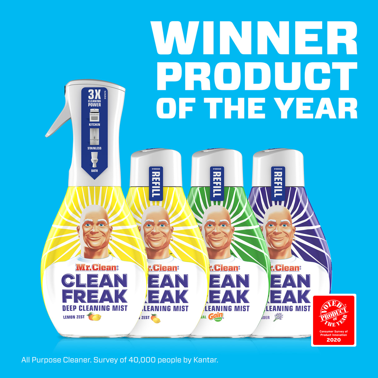 Mr. Clean Clean Freak Winner Product of the Year