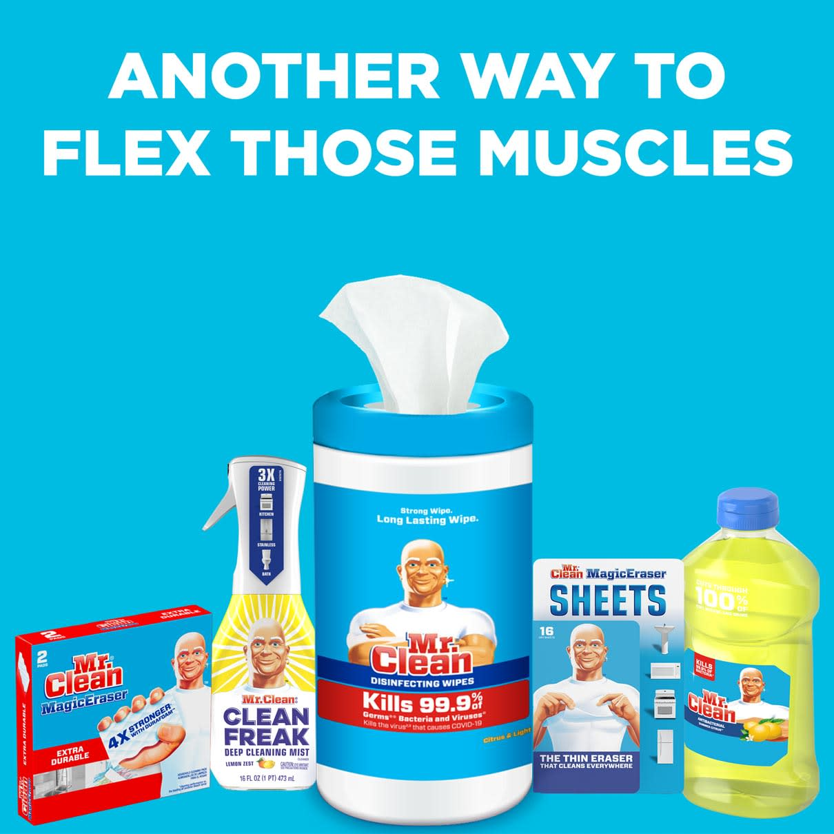 Mr. Clean - Another way to flex those muscles