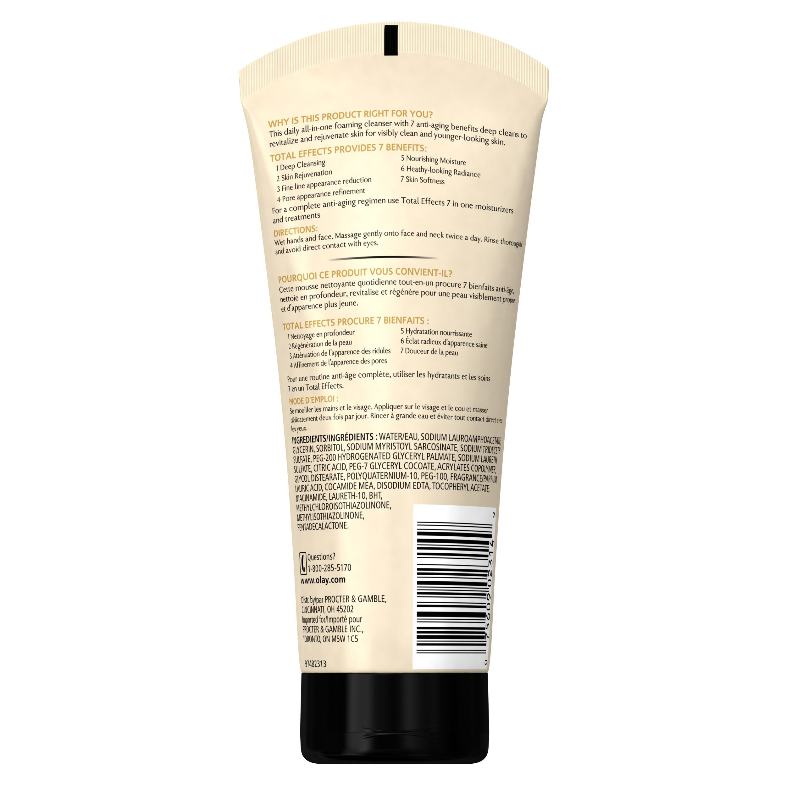 Total Effects Revitalizing Foaming Cleanser-4