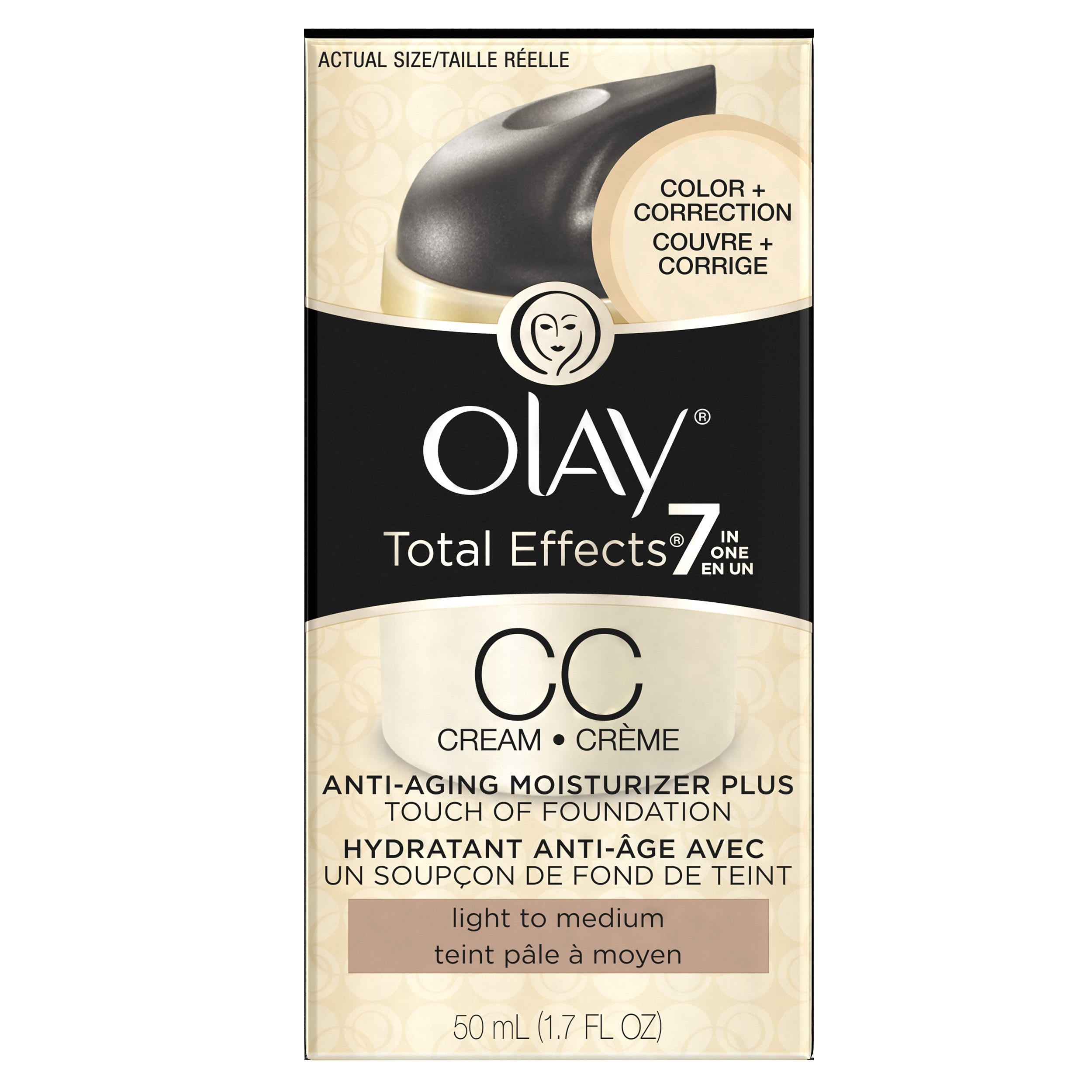 Olay CC Cream Total Effects Daily Moisturizer Touch of Foundation