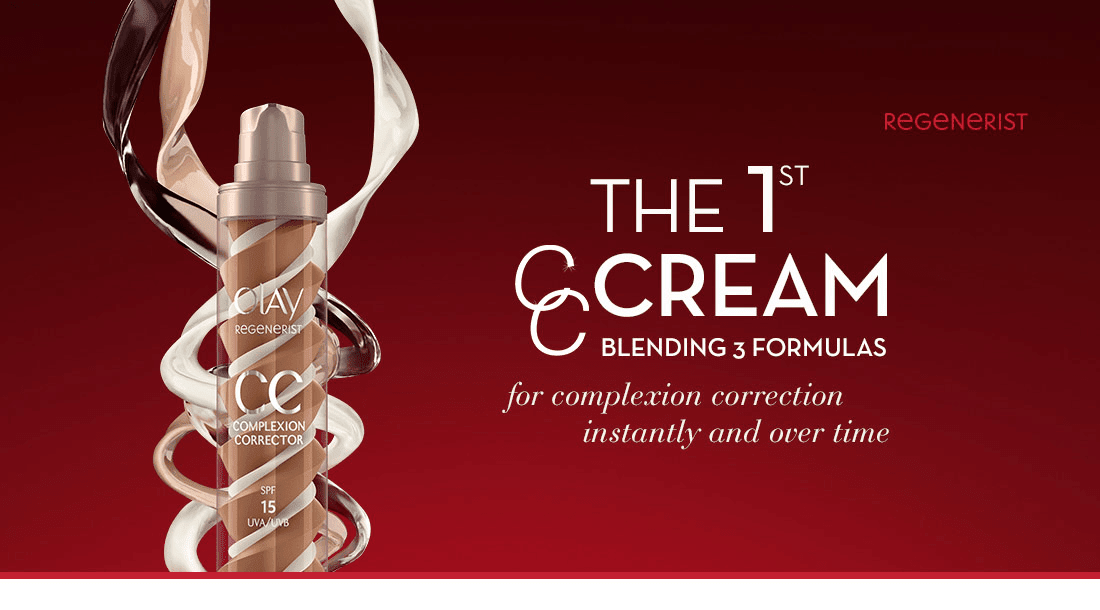 The 1st CC Cream Blending 3 Formulas - For complexion correction instantly and over time