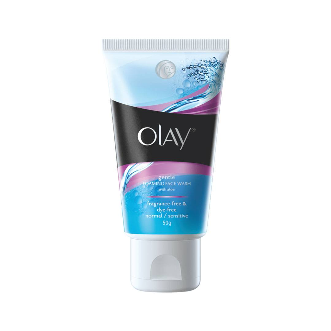 Olay Gentle Foaming Face Wash with aloe