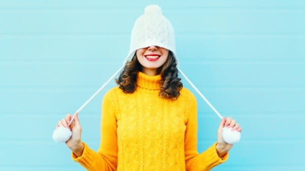 Image of woman with winter hat