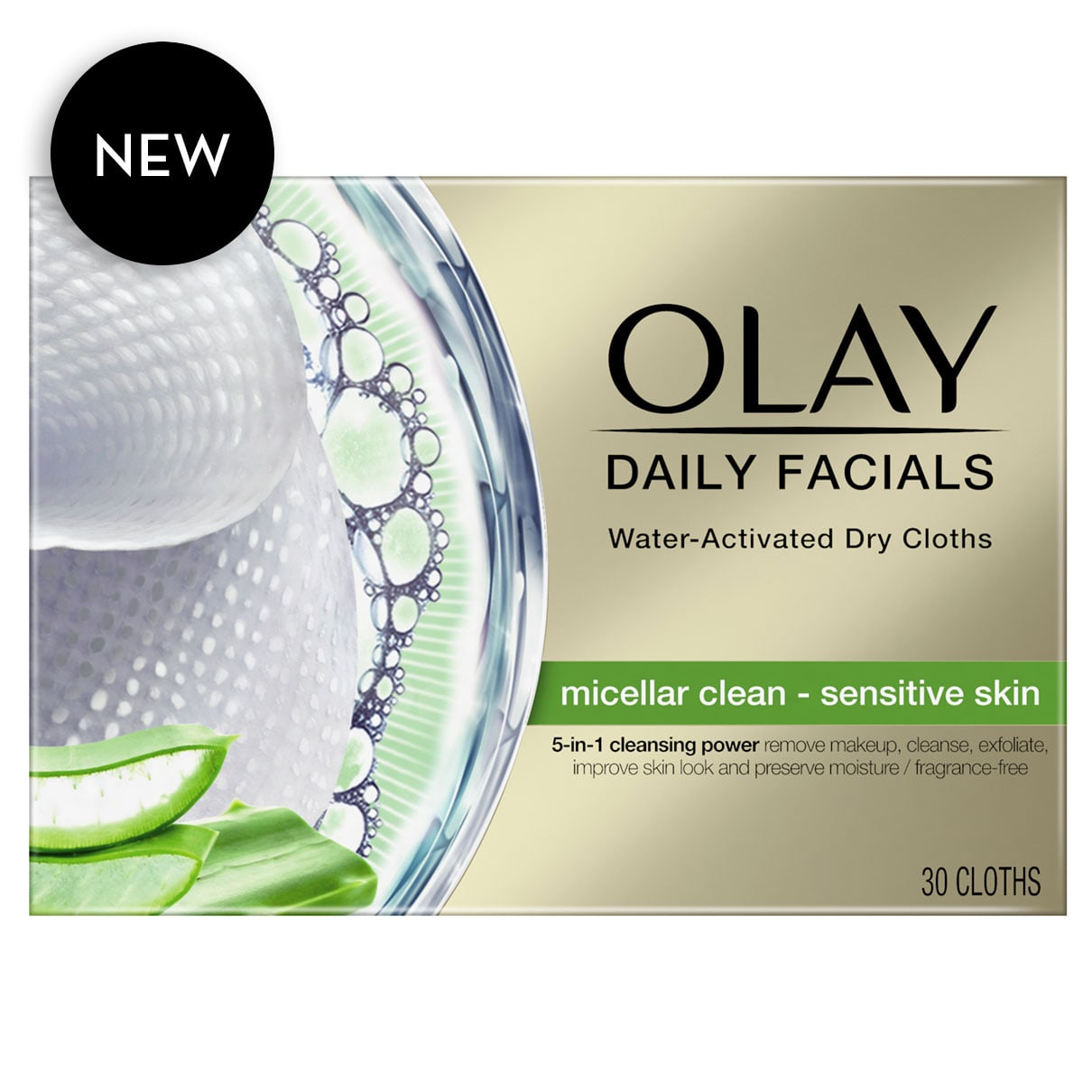 Olay Daily Facials, Sensitive skin, 30 Cloths