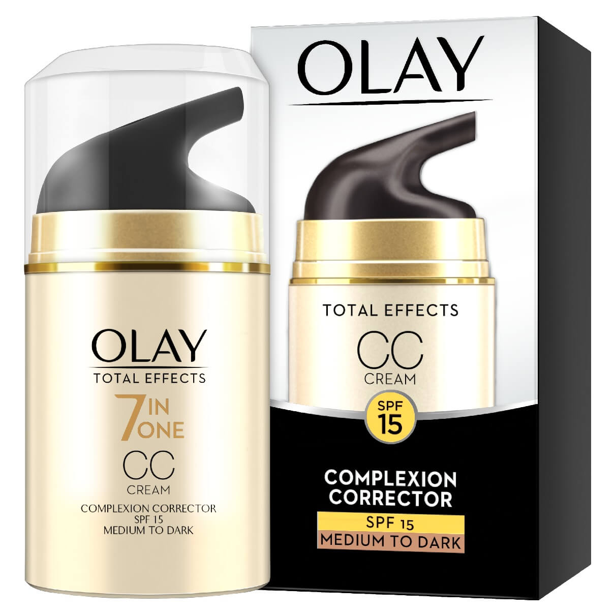 Olay Total Effects CC Cream Anti Ageing Moisturiser Medium-Dark 50ml