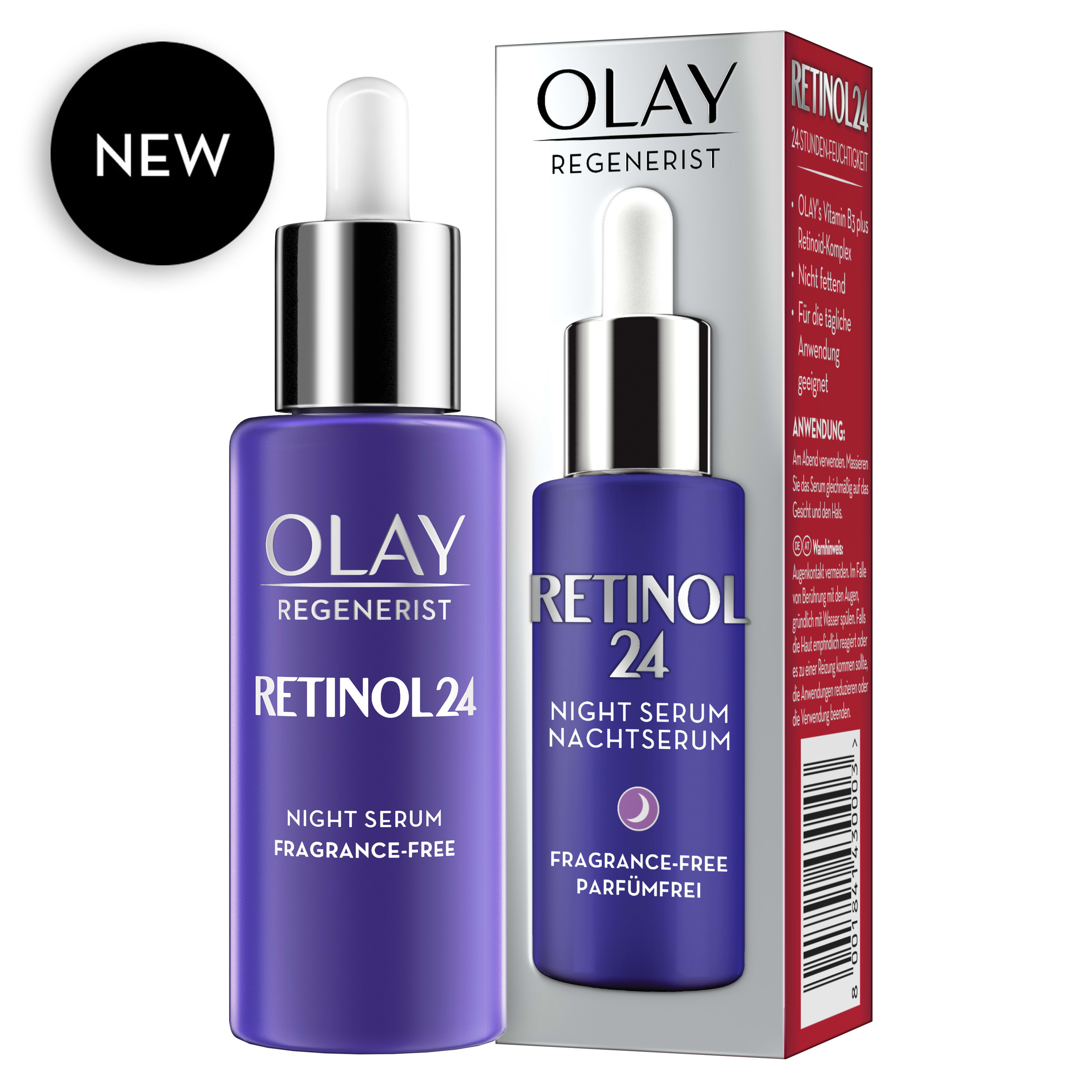 Olay Retinol24 Night Serum With Retinol & Vitamin B3 40ml