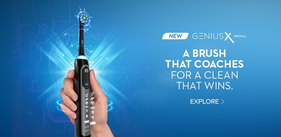 Genius X Smart Electric Toothbrush with Bluetooth Technology by Oral B