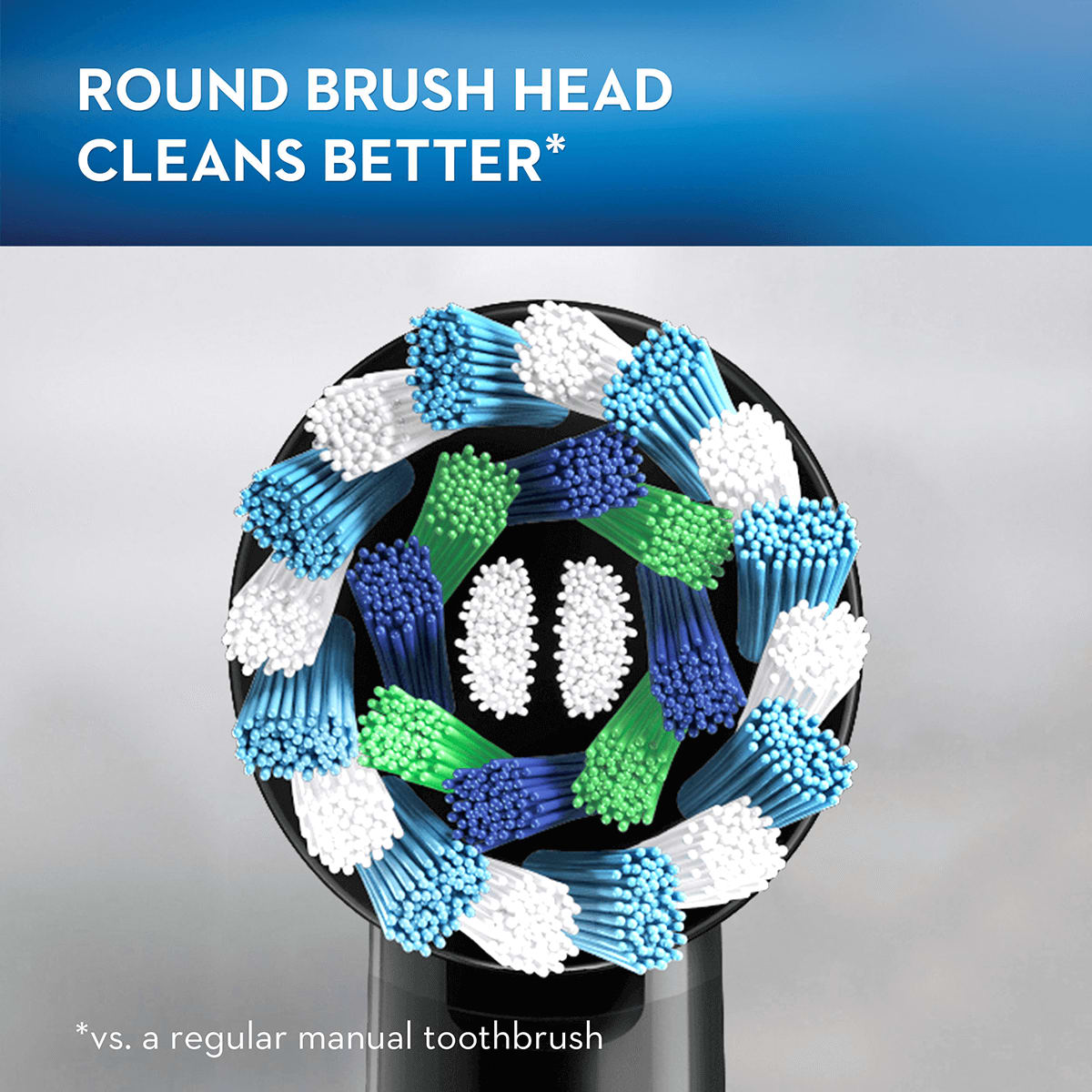 round brush head cleans better
