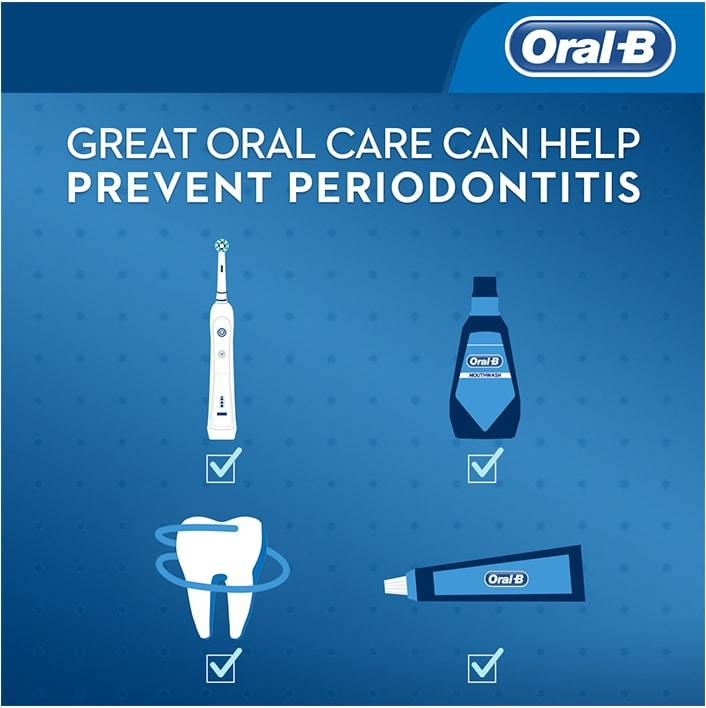 Great oral care can  help prevent periodontitis