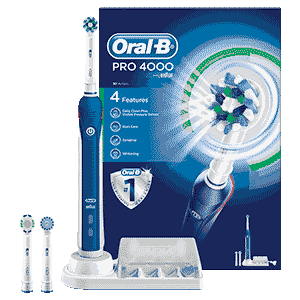Oral-B PRO 4000 CrossAction Rechargeable Electric Toothbrush