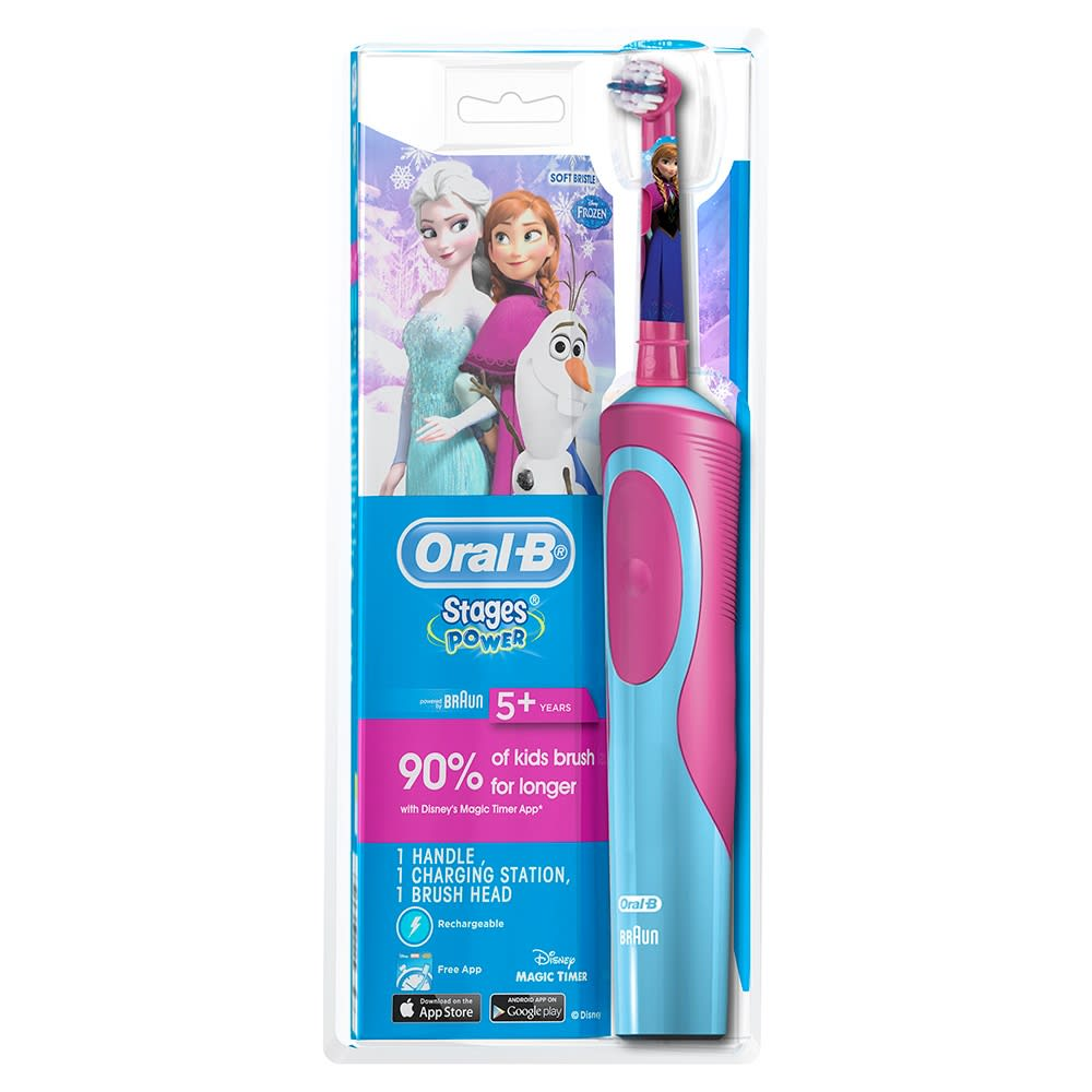 Oral-B Stages Power Kids Electric Toothbrush 5+ Years Soft Frozen