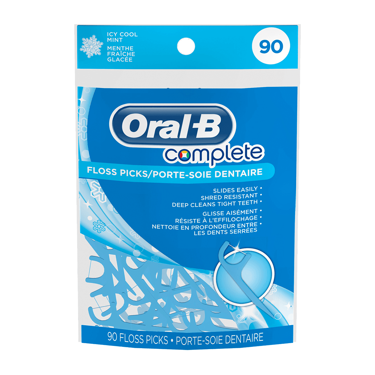Oral-B Complete Icy Cool Mint Floss Picks