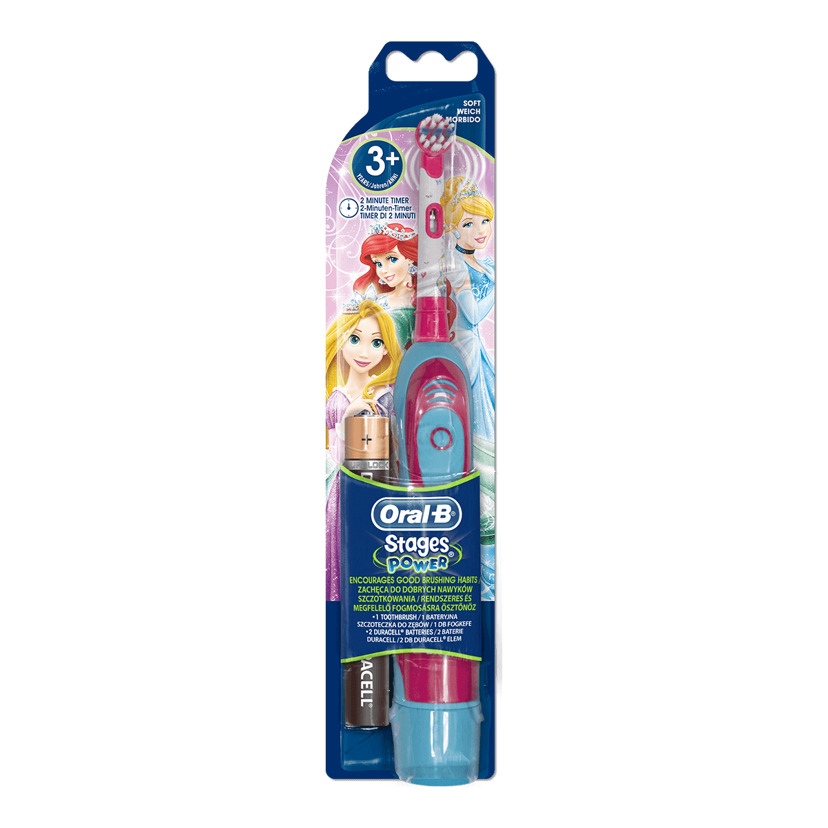 Oral-B Stages Power Princess Elektrische Zahnbürste mit Batterie
