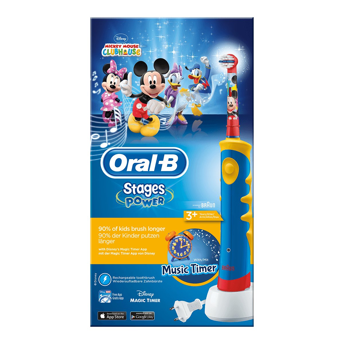 Oral-B Stages Power Mickey Elektrische Zahnbürste