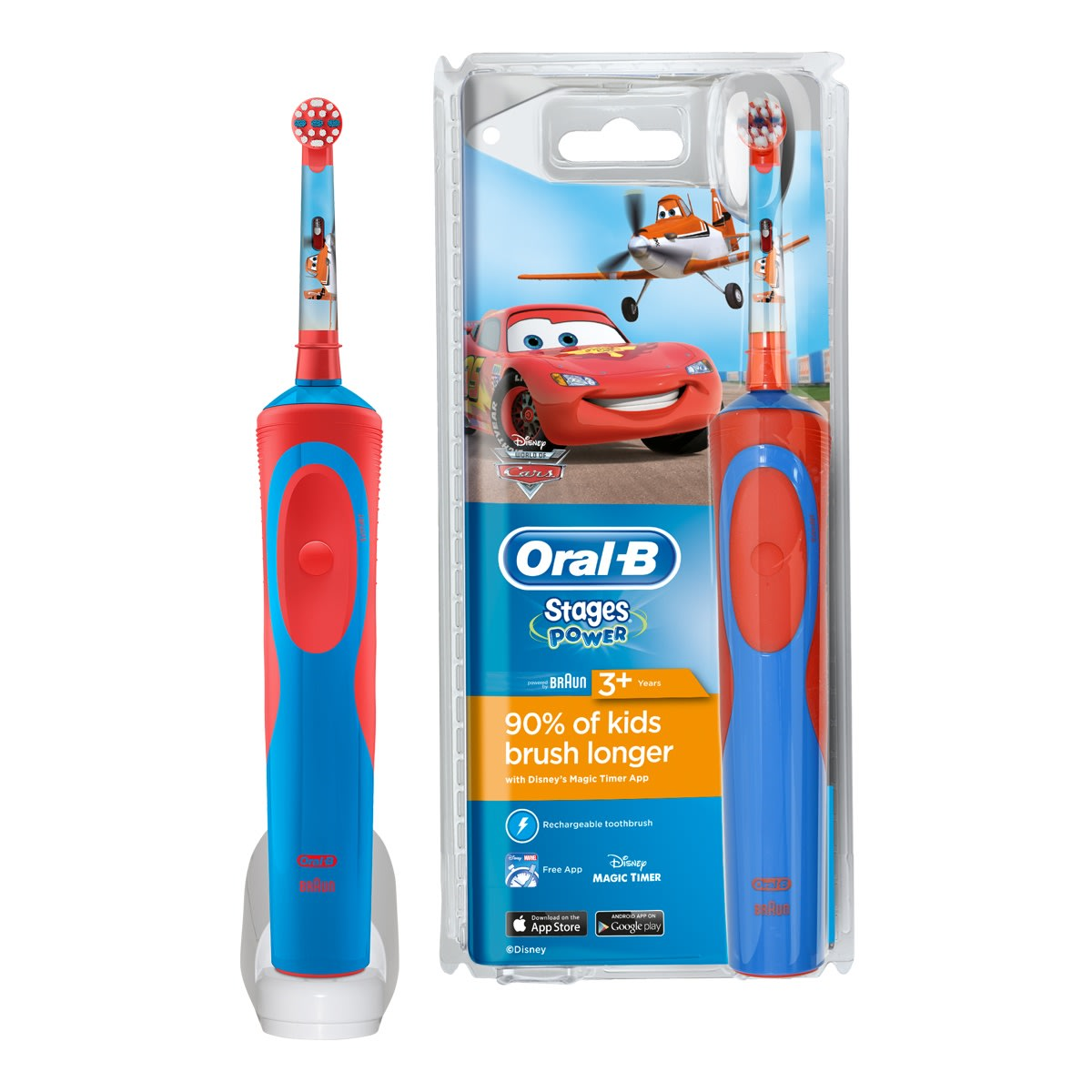 Oral-B Stages Power Cars brosse à dents électrique rechargeable enfants
