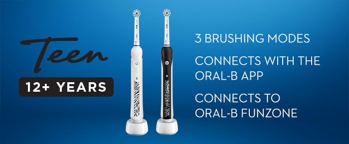 5 BRUSHING MODES CONNECTS WITH THE ORAL-B APP CONNECTS TO ORAL-B FUNZONE