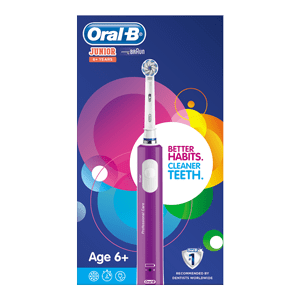 Oral-B Junior Electric Toothbrush For Children Aged 6+ in Purple or Green