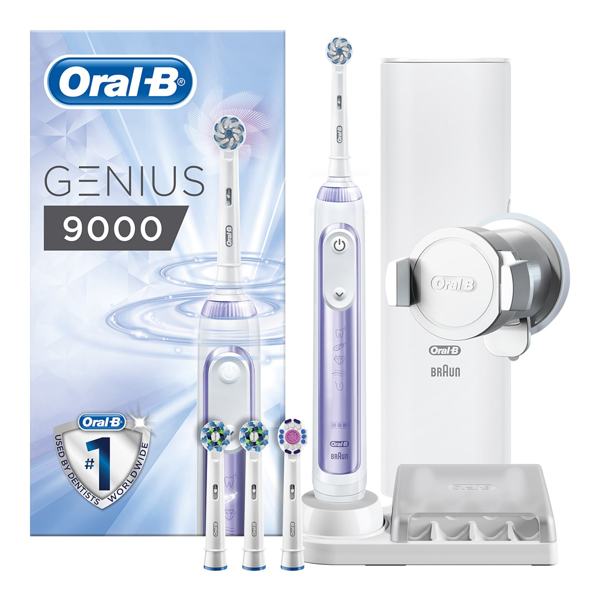 Oral-B Genius 9000 Orchid Purple Electric Toothbrush | Oral-B