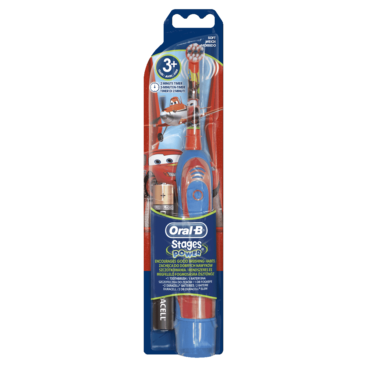Oral-B Stages Power Kids Battery Toothbrush featuring Disney Cars