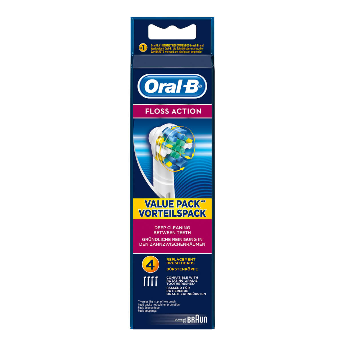 Oral-B FlossAction Replacement Brush Heads