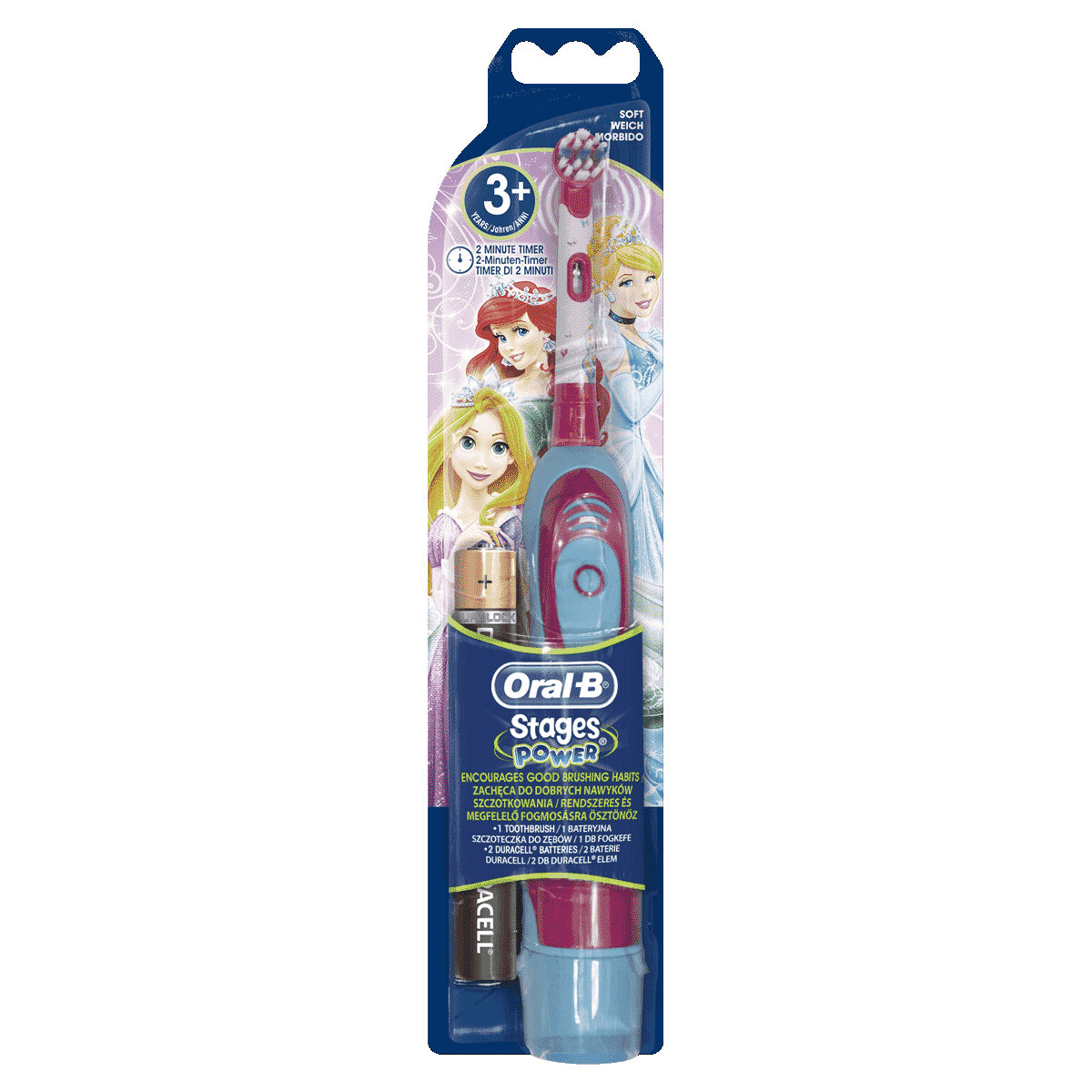 Oral-B Stages Power Kids Battery Toothbrush featuring Disney Princesses