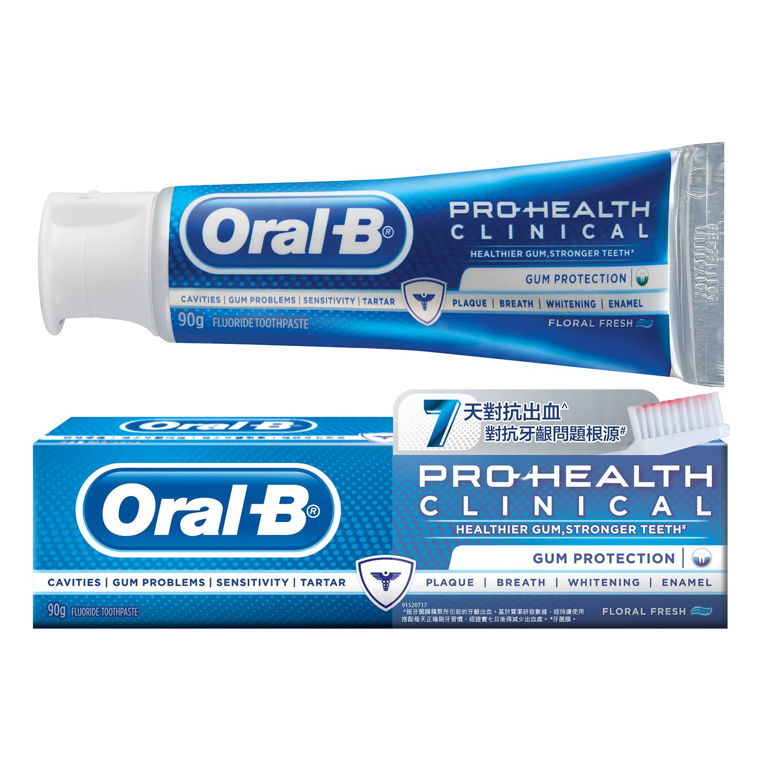 Glide Pro Health Clinical Protection fresh-floral-fresh-toothpaste