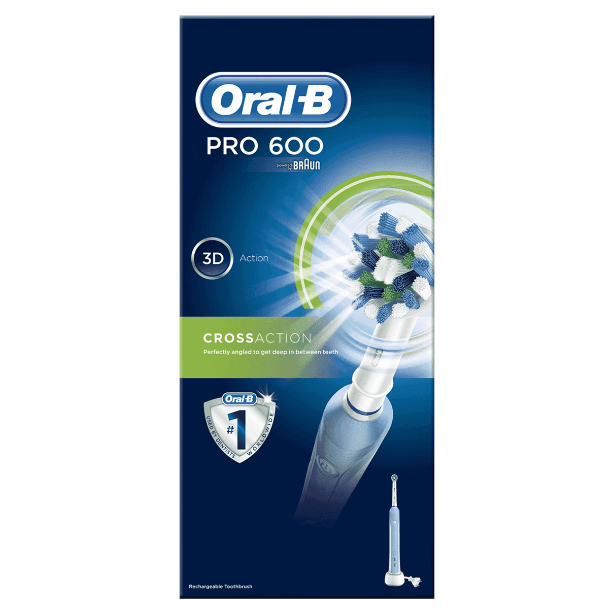 Oral-B PRO 600 FlossAction Rechargeable Electric Toothbrush