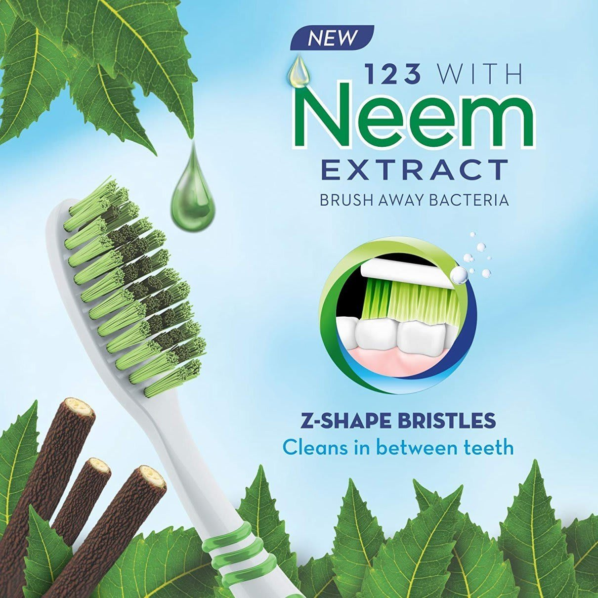 Oral-B 123 toothbrush with Neem Extract