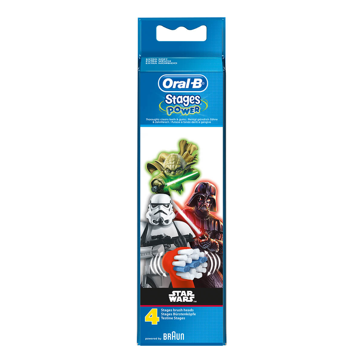 Oral-B Testine di ricambio Stages Power Star Wars