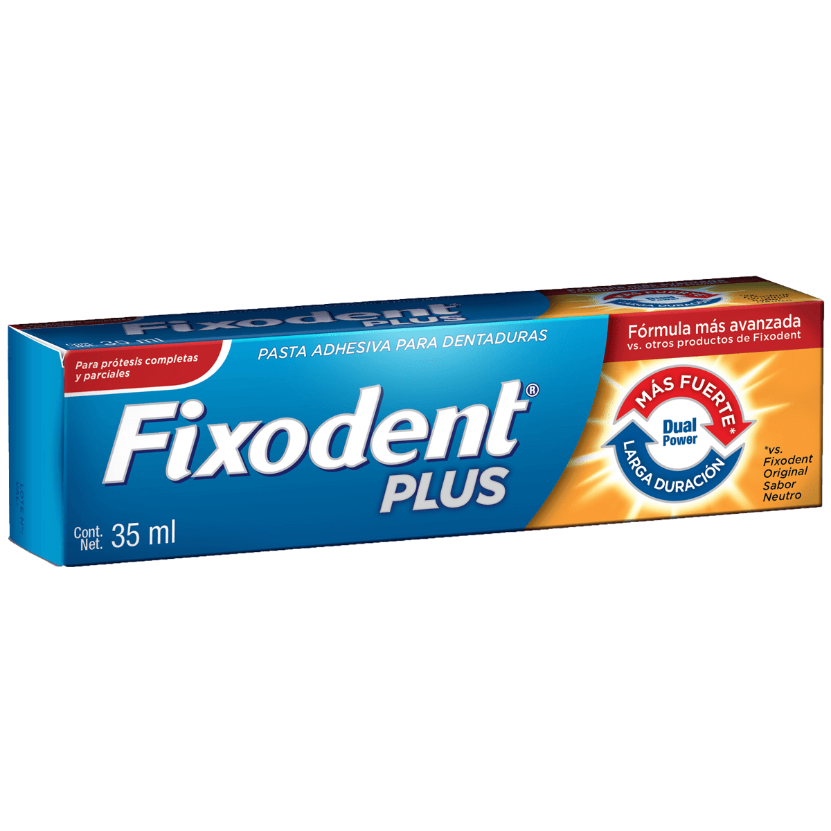 Adhesivo de dentadura Fixodent Plus Dual Power