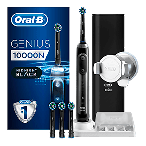 Oral-B Genius 10000 CrossAction Midnight Zwart | Oral-B