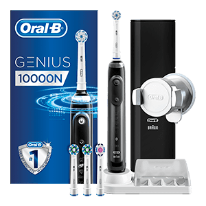 Oral-B Genius 10000 CrossAction Zwart | Oral-B