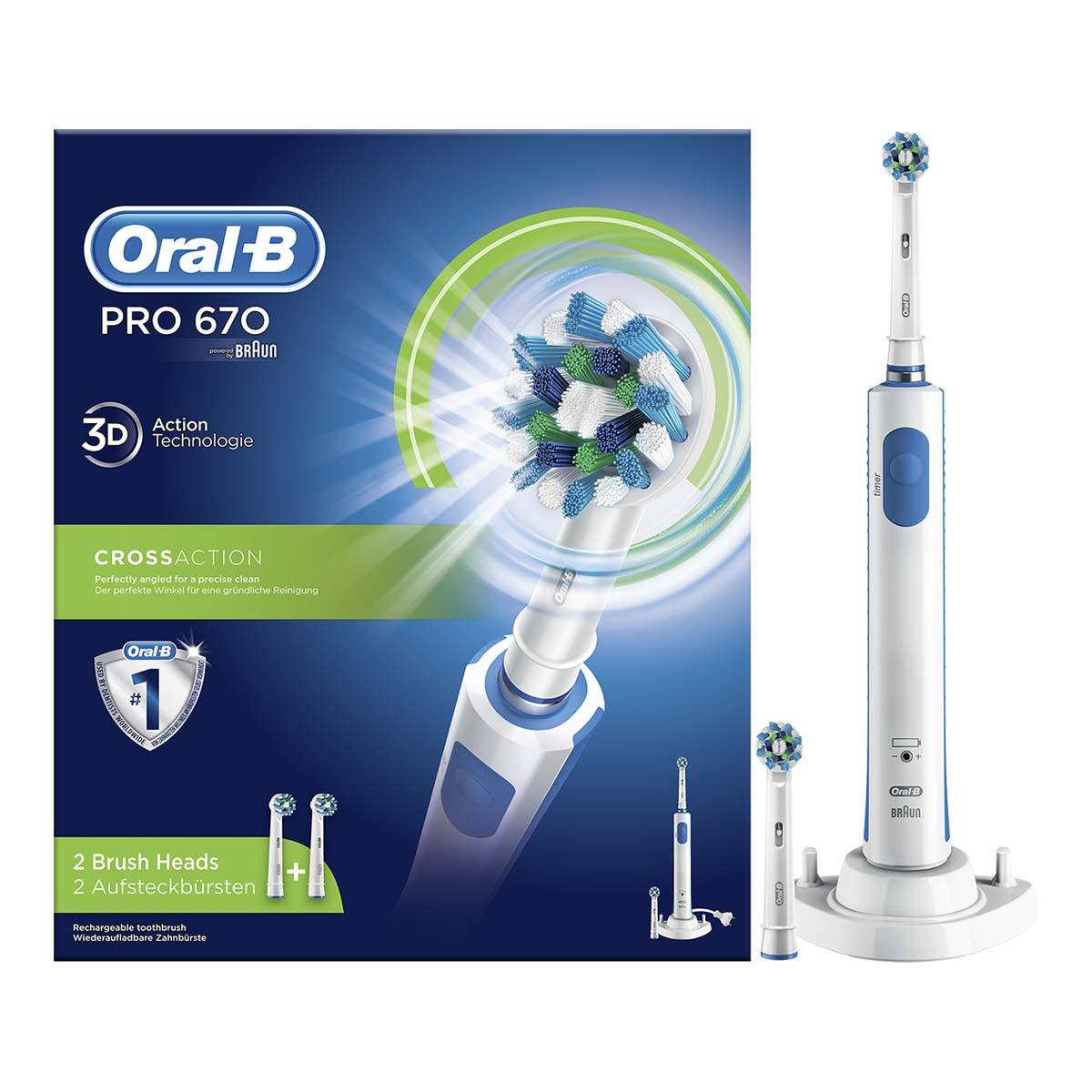 Oral-B Pro 670 CrossAction elektrisk tannbørste