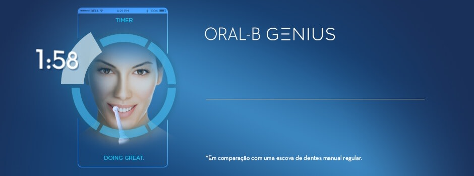 ORAL-B GENIUS  ESCOVA INTELIGENTE LIMPEZA SUPERIOR