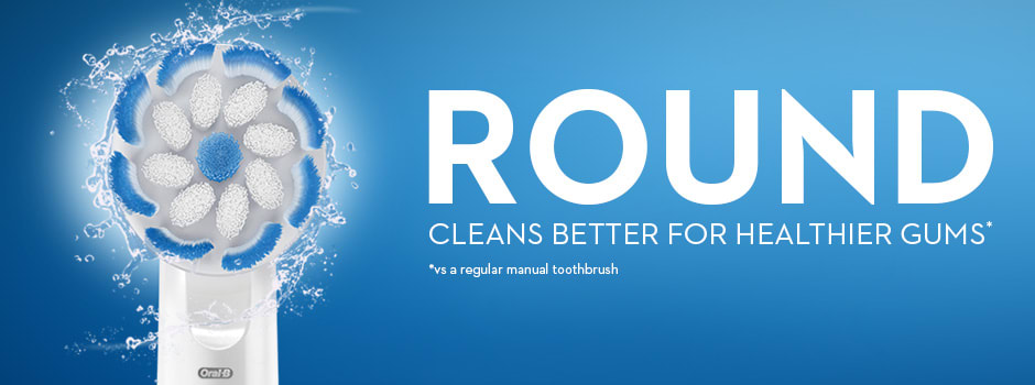 """""""ROUND  CLEANS BETTER FOR HEALTHIER GUMS* """""""