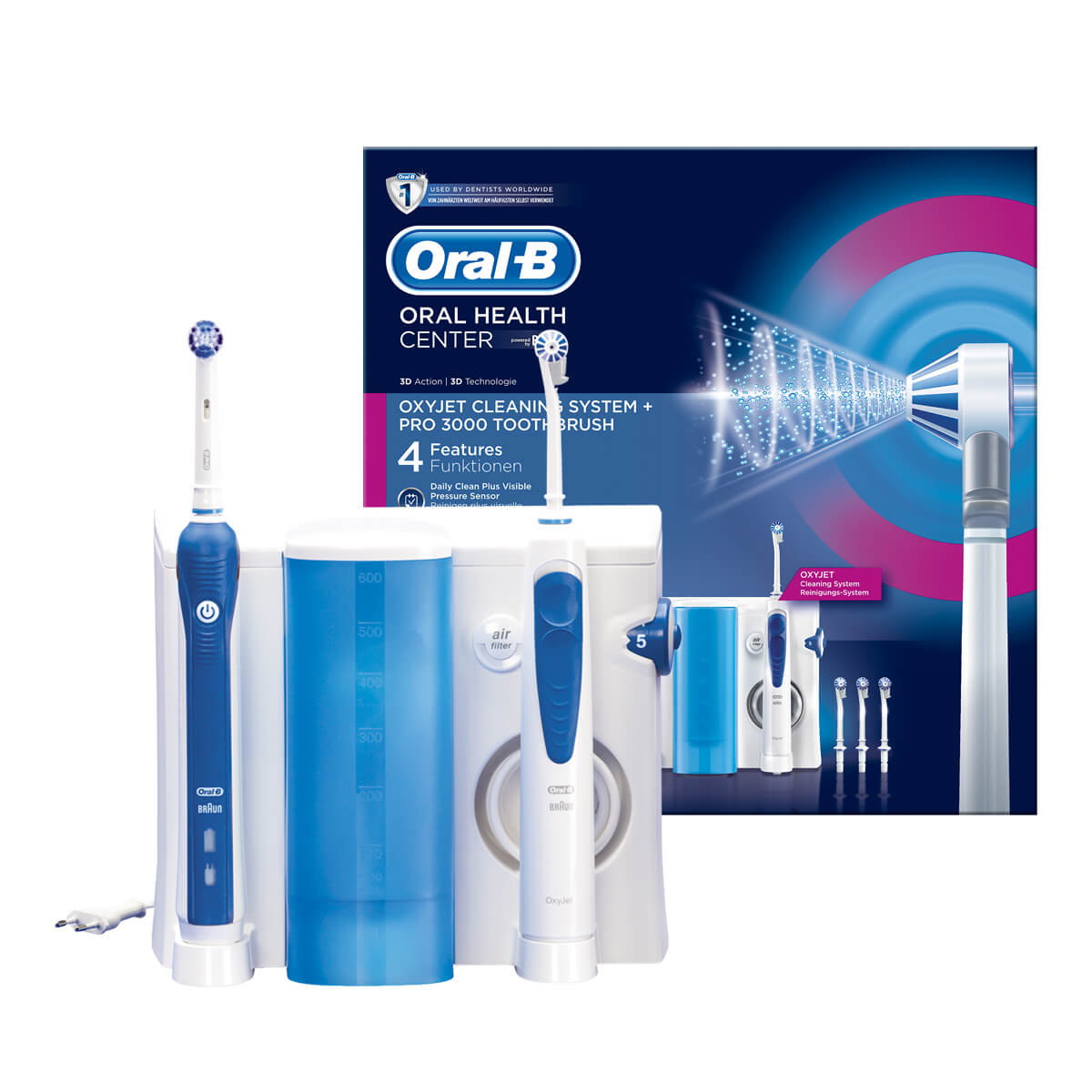 Oral-B Oral Health Center: Oxyjet Cleaning System + PRO 3000 Electric Toothbrush